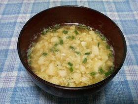 ふわふわ☆豆腐と卵の味噌汁