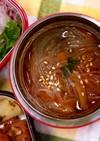 スープジャーで♡旨味ピリ辛春雨スープ♪