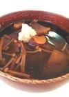 大根とエノキの味噌汁