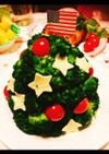 クリスマスツリーの簡単ポテトサラダ