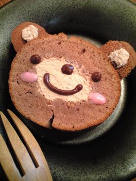 フライパンケーキで簡単☆クマさんケーキ