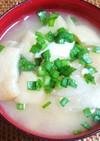豆富と大根の味噌汁