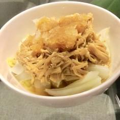 白菜となめ茸に大根おろし。