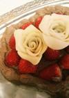 簡単素敵♪ハートのチョコレートケーキ