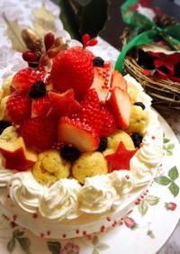2018★苺でツリー風クリスマスケーキ