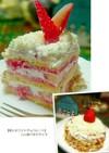 僕にもできた【苺とホワイトチョコケーキ】
