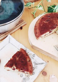 栗の渋皮煮で作る♪簡単栗のケーキ。