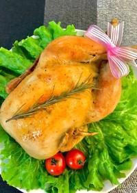 *オーブンで簡単!丸鶏のローストチキン*