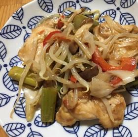 鶏肉と野菜の柚子コショウ炒め