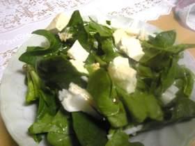 旬だもの☆新鮮ほうれん草と豆腐のサラダ