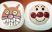アンパンマンバイキンマンのケーキの写真