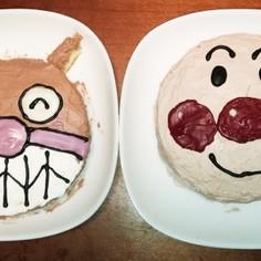 アンパンマンバイキンマンのケーキ