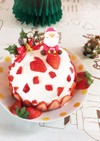 簡単♪まんまるドームのショートケーキ♡