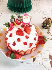 簡単♪まんまるドームのショートケーキ♡の写真