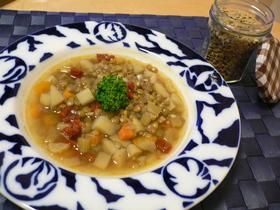 レンズ豆の野菜スープ