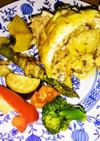 鶏の丸焼き キヌア&ライス入り