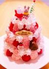 誕生日ケーキ簡単★タワーケーキ手作り簡単