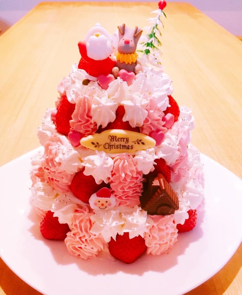 クリスマスケーキ簡単タワーケーキ手作り