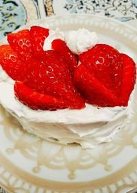 超簡単イチゴケーキ