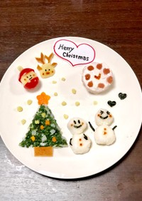 離乳食でクリスマスディナー