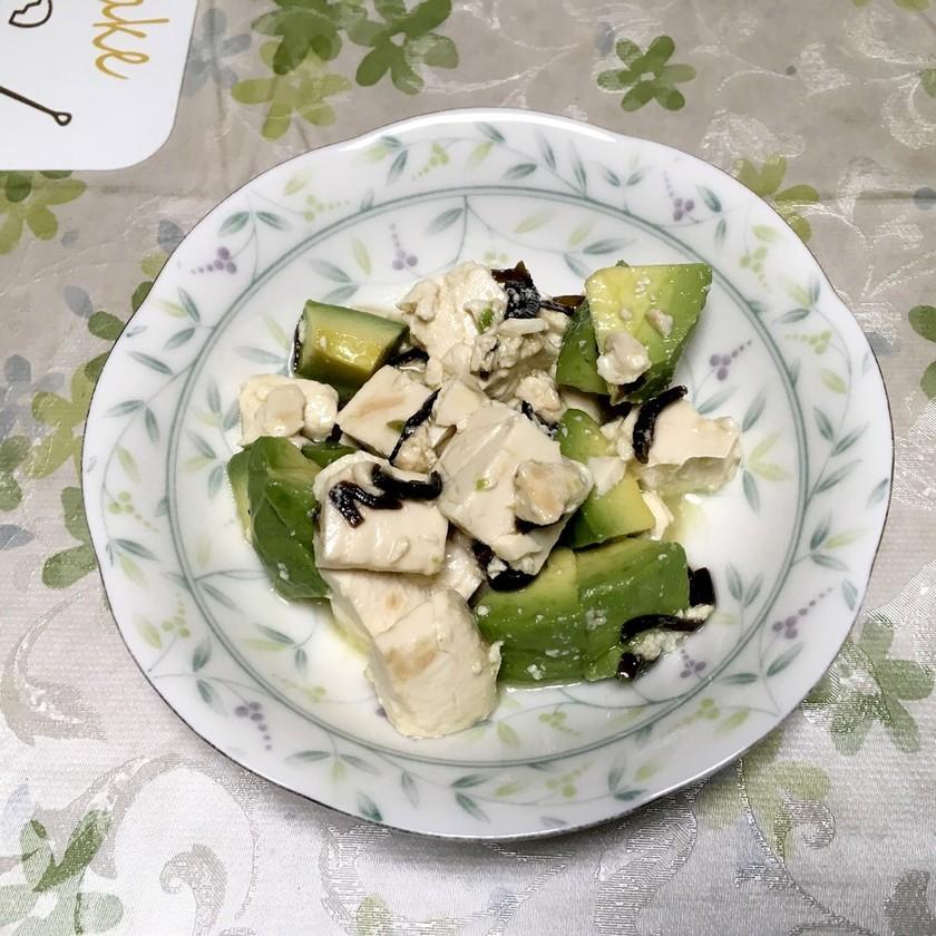 アボカドと豆腐の時短サラダ