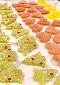 クリスマスの琥珀糖