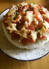 ゴロッと海鮮ちらし寿司ケーキ