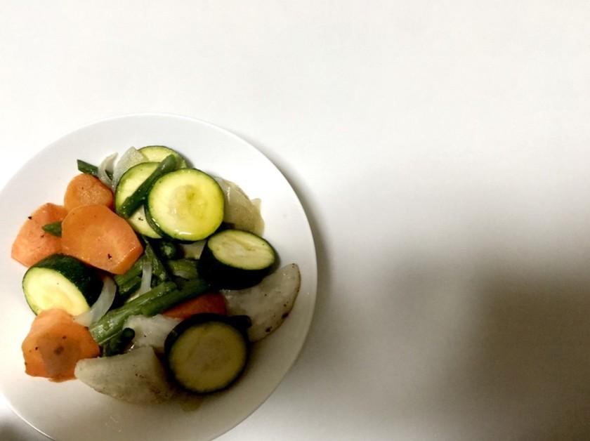シリコンスチーマーで簡単 温野菜サラダ
