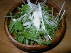 シャキシャキ水菜のさっぱりサラダ