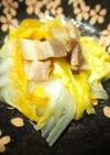 白菜とベーコンのバター出汁醤油蒸し