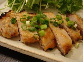 豚肉の生姜味噌漬け焼き