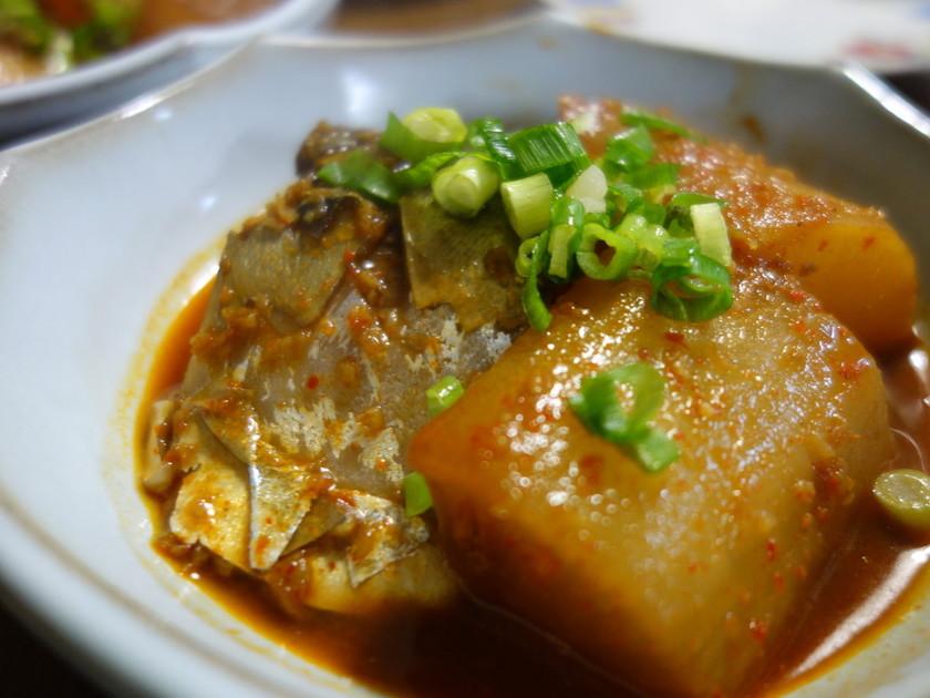鯖と大根の韓国風煮つけ