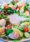 帆立貝柱とブロッコリーの塩レモンサラダ