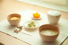 10ヶ月初期離乳食⁂小松菜タルタル等3品