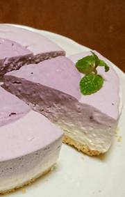 ブルーベリーレアチーズケーキの写真