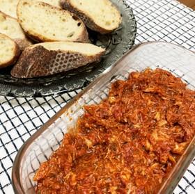 鯖缶とトマト缶の簡単おつまみ