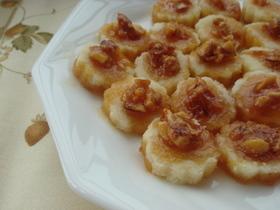 卵白菓子のアーモンドキャラメリゼソース