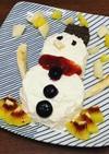 雪だるまケーキ