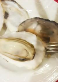 レンジで蒸し牡蠣・オイスター・ビアンコ