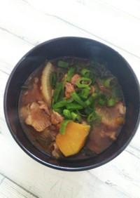 豚肉×残り野菜=豚汁 冷蔵庫お掃除