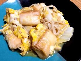 麩と白菜の卵とじ
