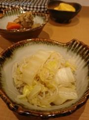 白菜としらたきの炒め煮の写真