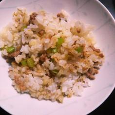 森崎さんのセロリ混ぜご飯
