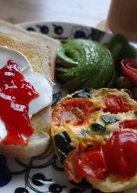簡単朝食!栄養満点オムレツ