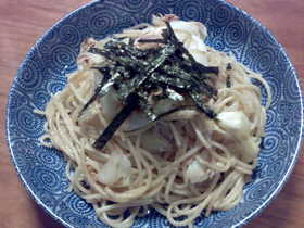 キャベツとツナのスパゲティ~醤油マヨ味
