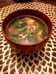 サニーレタスの卵スープの写真