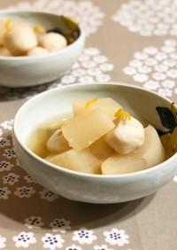 ほっこりゆずの香り、里芋と大根の煮物