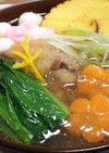 小松菜と豚肉のみぞれ雑煮