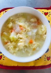 野菜嫌いの子供が食べる野菜スープ