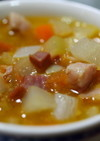野菜パパイヤと根菜のスープ